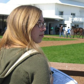 Natalie Keller Reinert at Tampa Bay Downs.
