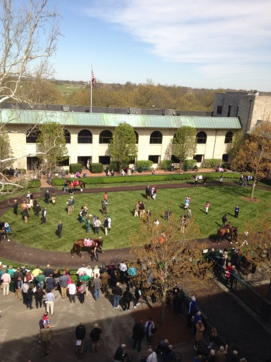 Keeneland's Walking Ring from the Phoenix Room
