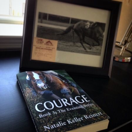 Get your paperback edition of COURAGE with handwritten notes and special equestrian extras!
