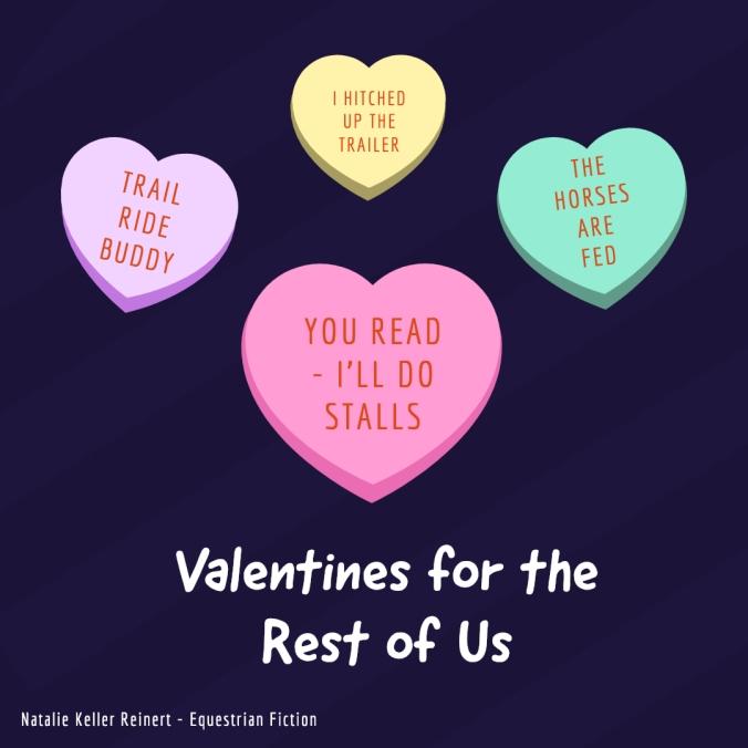 equestrian valentine's day hearts